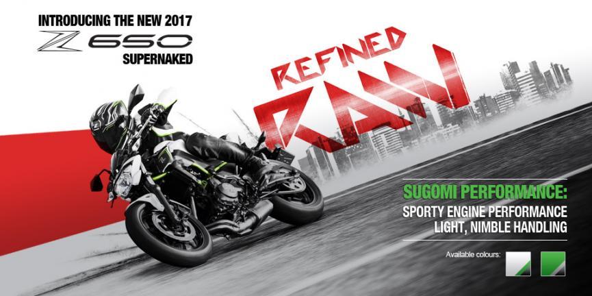 Kawasaki Z650 Supernaked yang ringan, gesit, dan sporty