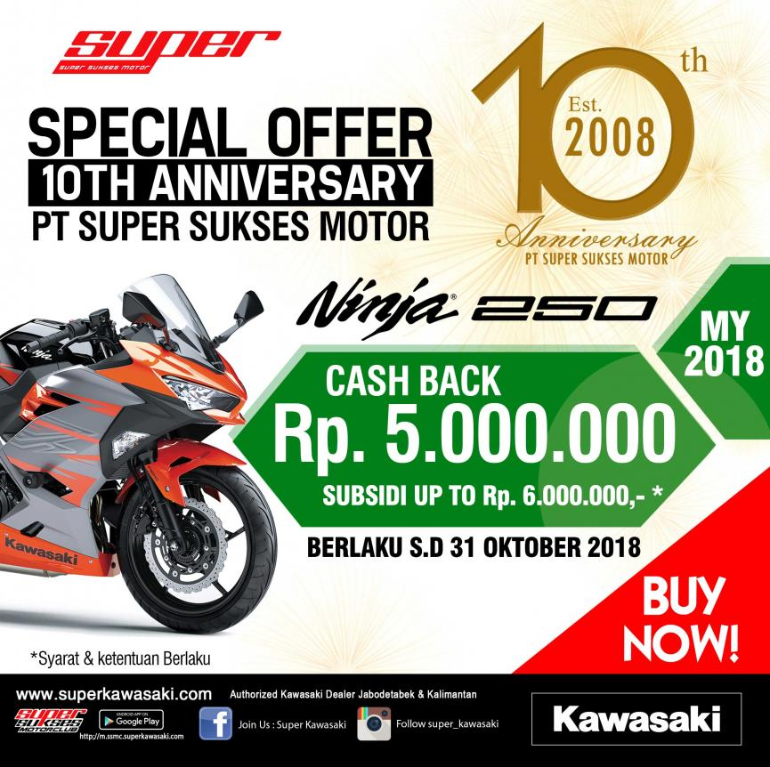 Special Offer Happy 10th Anniversary PT.Super Sukses Motor