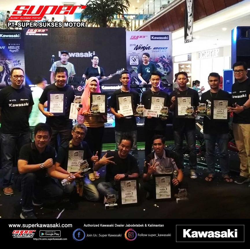 Para pemenang Super Kawasaki Modification Contest 2019 di Pontianak