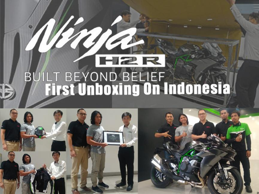 First Unboxing 1 dari 120 Unit Ninja H2R Carbon Di Indonesia